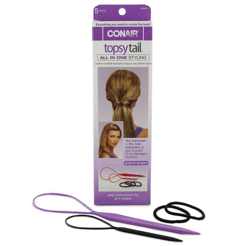 Conair Topsy Tail 5 Pieces, Creates Multiple Hairstyles, Hair Ties & Styling Accs, Conair, makeupdealsdirect-com, [variant_title], [option1]