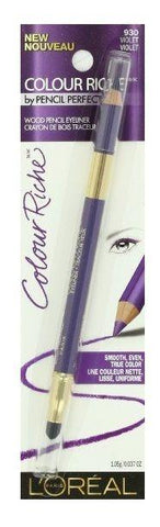 L'oreal Colour Riche Wood Pencil Eyeliner #930 Violet, Eyeliner, L'OREAL  - MakeUpDealsDirect.com