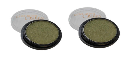 LOT OF 2 COVERGIRL QUEEN COLLECTION EYESHADOW POT #Q180 GREEN GLIMMER, Eye Shadow, COVERGIRL, makeupdealsdirect-com, [variant_title], [option1]