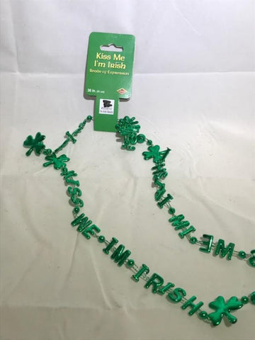 Party Favors, Gifts, Holiday Themed Sticks, YOU CHOOSE, Favors & Party Bag Fillers, reddonut, makeupdealsdirect-com, Kiss Me I'm Irish Beads, Kiss Me I'm Irish Beads