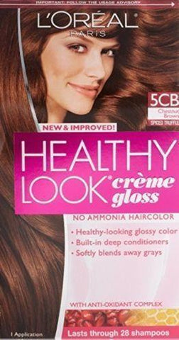 L'Oreal Healthy Look Creme Gloss Hair Color, CHOOSE YOUR COLOR, Hair Color, Hair, makeupdealsdirect-com, 5CB Chestnut Brown (Spcied Truffle), 5CB Chestnut Brown (Spcied Truffle)