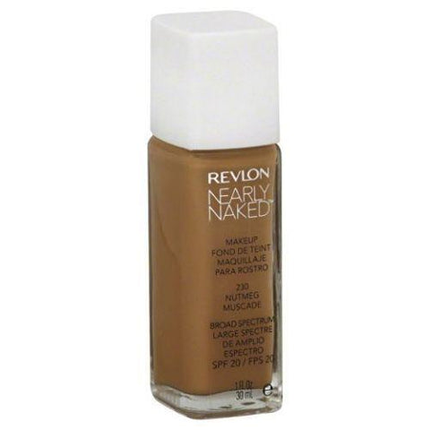 Revlon Nearly Naked Liquid Makeup 230 Nutmeg  SPF 20, Foundation, Revlon, makeupdealsdirect-com, [variant_title], [option1]