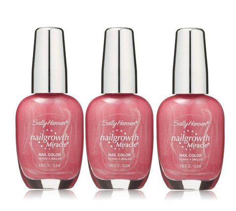 . Lot Of 3 - Sally Hansen Nailgrowth Miracle 230 Pretty Petunia Nail Color, Nail Polish, SALLY HANSEN  - MakeUpDealsDirect.com