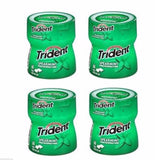 Trident Spearmint Sugar Free Gum With Xylitol (4) 60 Piece Pks 240 Total USA, Chewing Gum, Trident, makeupdealsdirect-com, [variant_title], [option1]