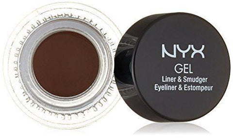 NYX Glas02 Charlotte Brown Gel Liner & Smudger (Brown), Eyeliner, NYX  - MakeUpDealsDirect.com
