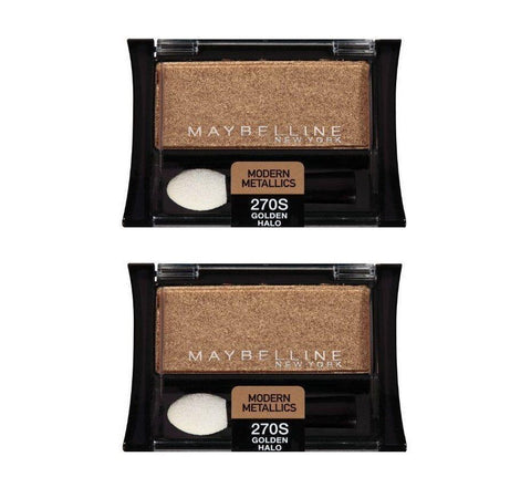 . (2 Pack)Maybelline Expert Modern Metallics EyeShadow, 270S Golden Halo, Eye Shadow, Maybelline  - MakeUpDealsDirect.com