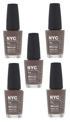 Lot Of 5 - Nyc In A New York Color Minute Quick Dry Nail Polish, Park Ave, Nail Polish, N.Y.C., makeupdealsdirect-com, [variant_title], [option1]