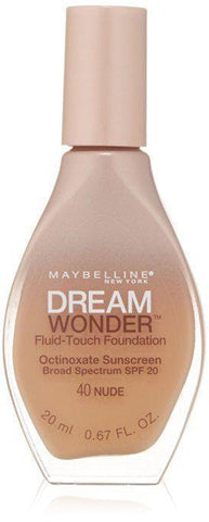 "Maybelline New York Dream Wonder Fluid-Touch Foundation ""CHOOSE YOUR SHADE"", Foundation, Maybelline, makeupdealsdirect-com, #40 Nude, #40 Nude"