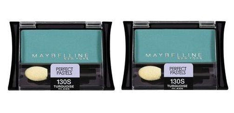 Lot Of 2 - Maybelline NY Eyeshadow  130s Turquoise Glass Perfect Pastels, Eye Shadow, Maybelline, makeupdealsdirect-com, [variant_title], [option1]