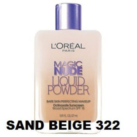 L'oreal Magic Nude Liquid Powder Foundation- Color Choice, Foundation, Foundation, makeupdealsdirect-com, Sand Beige 322 hs2550, Sand Beige 322 hs2550