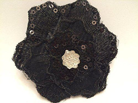 Scunci Style Press On 39247-A Black Press On Flower, Hair Accessories, scunci  - MakeUpDealsDirect.com