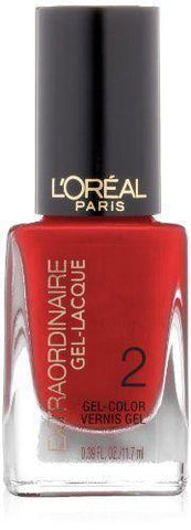 L'Oreal  - RED-Y TO SHINE - Extraordinaire Gel-Lacque Nail Polish, Nail Polish, L'Oreal  - MakeUpDealsDirect.com