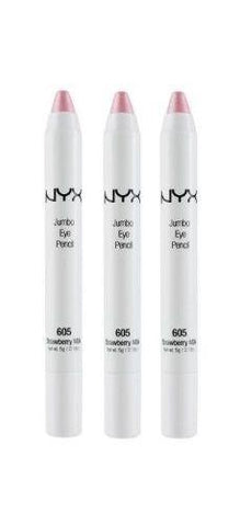 Lot Of 3 - Nyx Jumbo Eye Pencil Shadow Liner 605 Strawberry Milk, Eye Shadow, NYX, makeupdealsdirect-com, [variant_title], [option1]