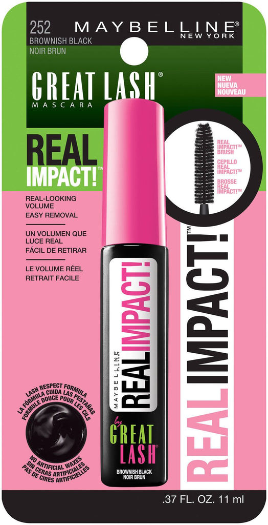 97455a7a9d1 Maybelline Great Lash Real Impact Washable Mascara, Brownish Black, Mascara,  Maybelline, makeupdealsdirect