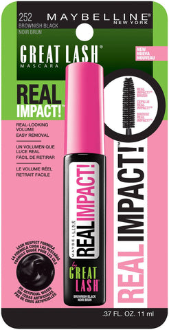 Maybelline Great Lash Real Impact Washable Mascara, Brownish Black, Mascara, Maybelline, makeupdealsdirect-com, [variant_title], [option1]