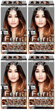 L'Oreal Paris Feria Intense Ombre Hair Color, Soft Black To Black O40, Hair Color, L'Oreal, makeupdealsdirect-com, Pack of 4, Pack of 4