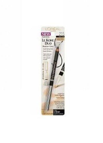 . 1 L'oreal Le Kohl Duo Defining Pencil + Powder Eyeshadow Black Vanilla 215, Eye Shadow, L'Oreal  - MakeUpDealsDirect.com