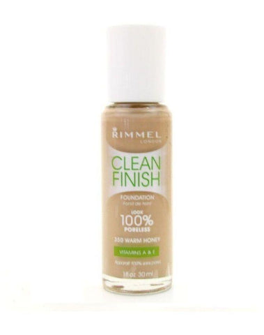RIMMEL LONDON Clean Finish Foundation - ##350 Warm Honey, Foundation, Rimmel  - MakeUpDealsDirect.com