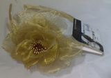 Goody Fashion Flower Head Band  (Pick Yours), Hair Accessories, Flower, makeupdealsdirect-com, Gold, Gold
