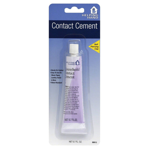 Helping Hand Contact Cement Bonds On Contact 0.7 Oz, Liquid Glues & Cements, Helping Hand, makeupdealsdirect-com, [variant_title], [option1]
