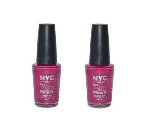 . 2 Pack - Nyc In A New York Color Minute Nail Polish 268 Fashion Ave Fuchsia, Nail Polish, NYC  - MakeUpDealsDirect.com
