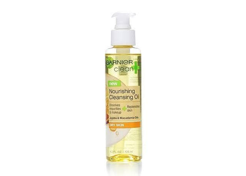Garnier Clean+ Nourishing Cleansing Oil For Dry Skin, 4.2oz, Cleansers & Toners, Cleanser, makeupdealsdirect-com, PACK OF 1, PACK OF 1