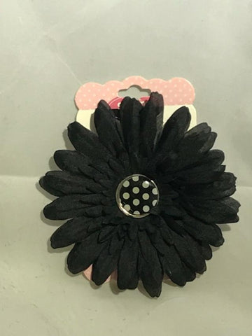 Gimme Clips Hair Accessory Variety, Choose Your Color, Hair Accessories, reddonut, makeupdealsdirect-com, 002706 black flower, 002706 black flower