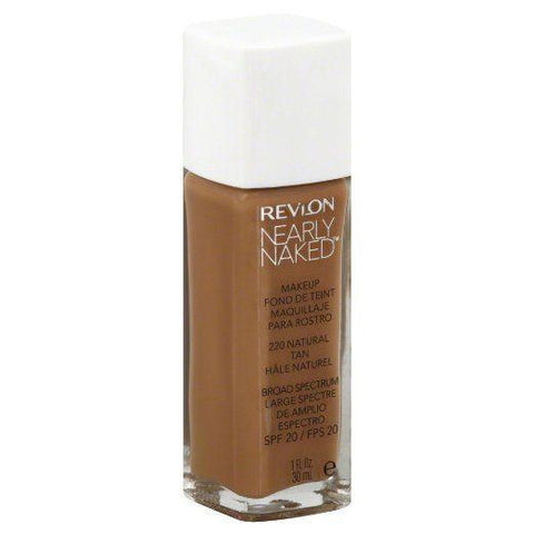 "Revlon Nearly Naked Liquidmakeup Broadspectrum Spf20 220 Natural Tan ""Your Pack"", Foundation, Revlon, makeupdealsdirect-com, PACK 1, PACK 1"