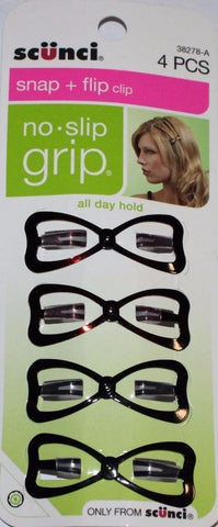 Scunci Snap + Flip Clip No Slip Grip 4pcs, All Day Hold, Hair Accessories, SCUNCI  - MakeUpDealsDirect.com