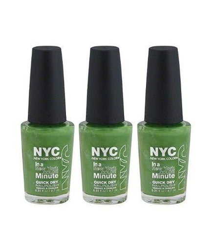 Lot Of 3 - Nyc New York In A Minute Quick Dry Nail Polish High Line Green #298, Nail Polish, NYC, makeupdealsdirect-com, [variant_title], [option1]