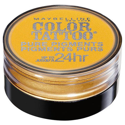 MAYBELLINE Color Tattoo 24 Hour Pure Pigments - WILD GOLD #25, Eye Shadow, Maybelline, makeupdealsdirect-com, [variant_title], [option1]