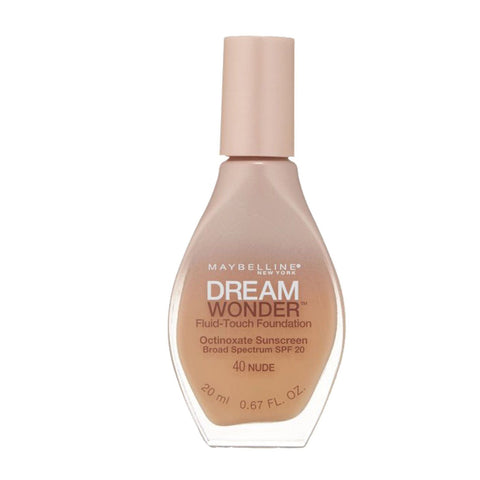 Maybelline Dream Wonder Fluid-touch Foundation #40 Nude, Foundation, Maybelline, makeupdealsdirect-com, PACK OF 1, PACK OF 1