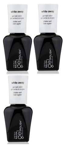 Lot Of 3 - Sally Hansen Salon Gel Polish Gel Nail Color #110 White Away, Gel Nails, Sally Hansen, makeupdealsdirect-com, [variant_title], [option1]