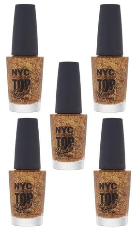 Lot Of 5 - N.y.c. New York Color Minute Nail Enamel, Top Of The Gold, Manicure/Pedicure Tools & Kits, NYC, makeupdealsdirect-com, [variant_title], [option1]