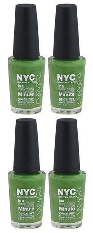 Lot of 4 - Nyc New York in a Minute Quick Dry Nail Polish High Line Green #298, Nail Polish, NYC, makeupdealsdirect-com, [variant_title], [option1]