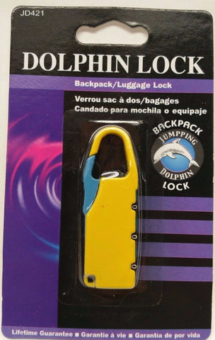 Backpack / Luggage Lock Jumping Dolphin *Pick Your Color*, Other Locks, Unbranded/Generic, makeupdealsdirect-com, Yellow, Yellow