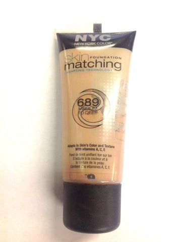 NYC Skin Matching Foundation With Adapting Technology 689 Medium To Deep, Foundation, NYC, makeupdealsdirect-com, [variant_title], [option1]