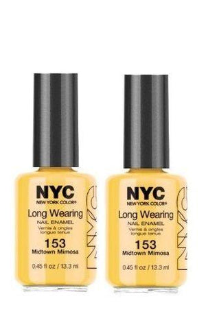 Lot Of 2 - Nyc Long Wearing Nail Enamel - Midtown Mimosa, Nail Polish, NYC, makeupdealsdirect-com, [variant_title], [option1]