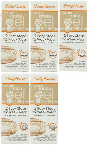 Lot Of 5 - Sally Hansen Insta Gel Strips #380 Faux Real, Gel Nails, Sally Hansen, makeupdealsdirect-com, [variant_title], [option1]