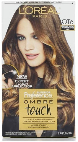 L'Oreal Superior Preference Ombre Touch Hair Color OT6 Light Brown To Dark Blond, Hair Color, L'Oréal Paris, makeupdealsdirect-com, PACK OF 1, PACK OF 1