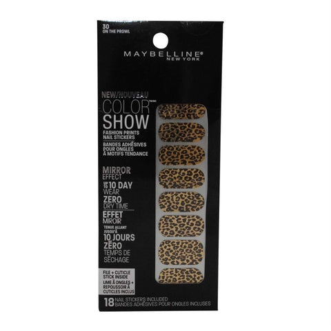 Maybelline New York Color Show Fashion Prints Nail Stickers PIC UR SHDE B2G1FREE, Nail Art Accessories, Maybelline, makeupdealsdirect-com, 30 On The Prowl, 30 On The Prowl