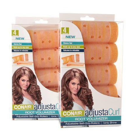 8 Conair Adjustacurl Adjustable Self-grip Rollers Root Volumizing Ionic Shine, Rollers & Curlers, Conair  - MakeUpDealsDirect.com