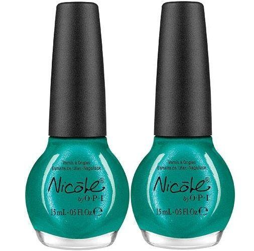 Lot Of 2 Nicole By Opi Nail Lacquer Diva Into The Pool 5oz