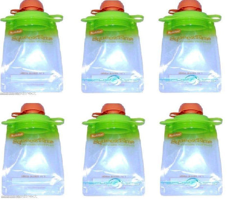 Reusable Baby Toddler Or Adult Food Pouch (6 Pack),, Other Baby Dishes, Boogin Head, makeupdealsdirect-com, [variant_title], [option1]