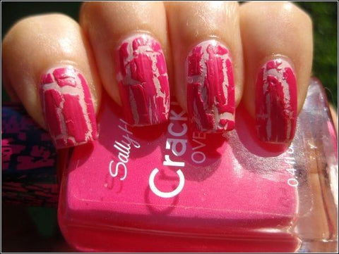 Sally Hansen Crackle Overcoat 04 Fuchsia Shock Hot Pink, Nail Polish, Sally Hansen, makeupdealsdirect-com, [variant_title], [option1]