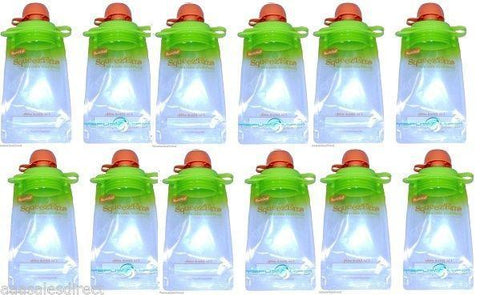 . 12-pack Refillable Baby Food Pouch Great For Snacks And Drinks Usa Seller, Other Baby Dishes, BOOGINHEAD SQUEEZEMS  - MakeUpDealsDirect.com