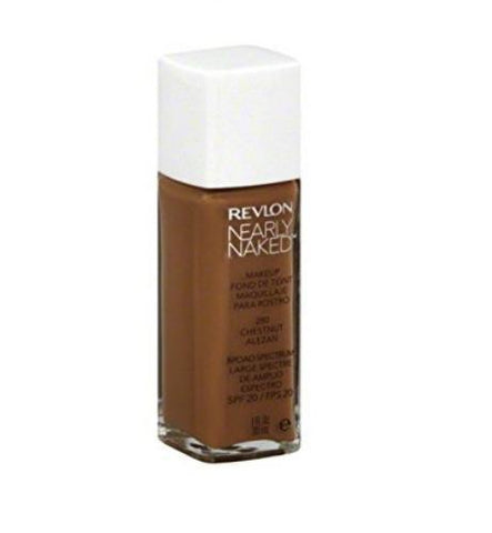 Revlon  #280 Chestnut, 1 Fluid Nearly Naked Liquid Makeup Broad Spectrum Spf 20,, Foundation, Revlon, makeupdealsdirect-com, [variant_title], [option1]