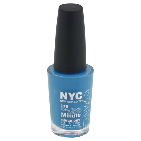 NYC In A Minute Quick Dry Nail Polish WATER STREET BLUE 296, Nail Polish, NYC, makeupdealsdirect-com, [variant_title], [option1]