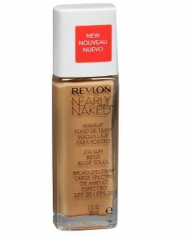 Revlon Nearly Naked Foundation #210 Sun Beige, Foundation, Revlon, makeupdealsdirect-com, [variant_title], [option1]