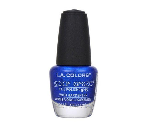 L.a. Colors Color Craze Nail Polish, Np424 Wired Blue, Nail Polish, L.A. Colors, makeupdealsdirect-com, [variant_title], [option1]